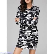 zkvyk7 stylish women u0027s camouflage hooded long sleeve dress casual
