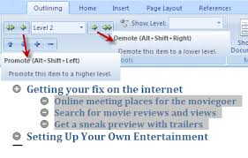 how to create outlines u0026 organize document in ms word 2007