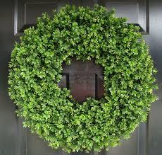 artificial boxwood wreath year wreath front door decor faux boxwood wreath outdoor