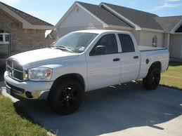 white dodge truck white trucks black rims pics dodgetalk dodge car forums