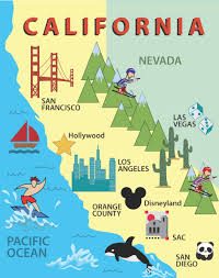 Amtrak Map California by Santiago California Map California Map