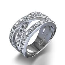 Used Wedding Rings by Diamond Wedding Ring Round Cut Engagement Ring Criss Cross 4 Ctw