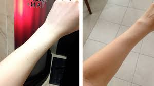 my first spray tan experience pale gal goes tan youtube