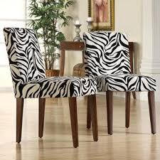 Zebra Dining Chairs Set Of 2 Black And White Zebra Print Dining Chairs