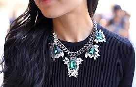 style statement necklace images Charming and stylish statement necklaces for girls jpg