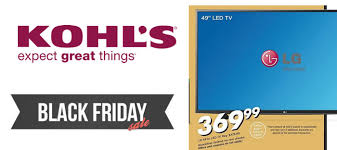 lg black friday top 5 deals kohl u0027s black friday 2015 ad
