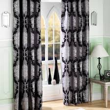 Light Silver Curtains Livingroom Drop Gorgeous Black And Grey Living Room Curtains