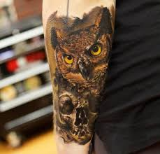 skull owl by bloodlines gallery