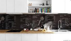 recipes scandinavian apartment monochrome printed splashback