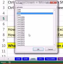 keyboard shortcut to switch between sheets in excel 2013