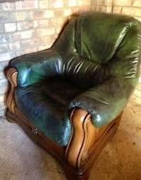 Second Hand Leather Armchair Leather Armchair Ebay