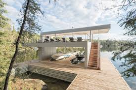 cibinel architecture have designed a modern boathouse with an
