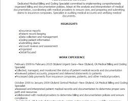 medical billing resume top 8 medical billing specialist resume