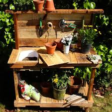make a rustic potting bench for your garden woodworking for mere