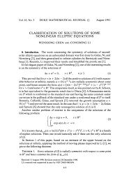 classification of solutions of some nonlinear elliptic equations