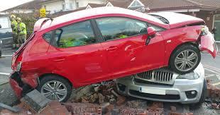 bmw hospital car left on top of bmw after driver taken ill in hospital crash