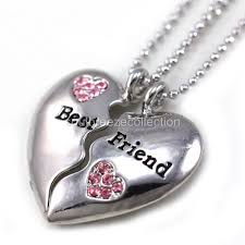 new pendant necklace images New best friends forever bff clear heart two pendant necklace jpg