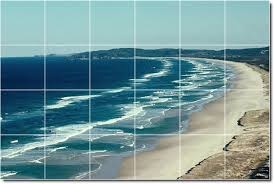 beach photo wall tile mural 6 loading zoom