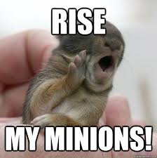 Angry Bunny Meme - rise my minions evil bunny leader quickmeme