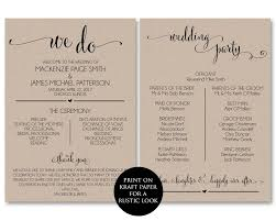 wedding bulletins templates wedding program template wedding program printable we do