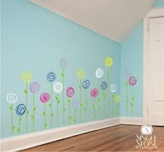 Best  Hand Painted Walls Ideas On Pinterest Murals Painted - Flower designs for bedroom walls