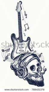 guitar tattoo stock images royalty free images u0026 vectors