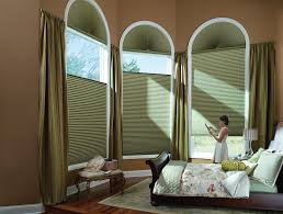 Arch Windows Decor Bay Window Decorations With Amazing Green Folding Curtain With
