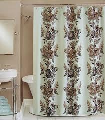 Shower Curtain Blue Brown Amazon Com Peri Shower Curtain Fabric Calliope Blue Brown Grey