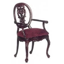 miniature queen anne armchair dollhouse dining room furniture