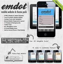 50 html5 mobile website templates sixthlifesixthlife