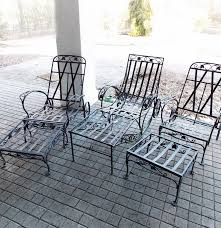 Vintage Woodard Patio Furniture - vintage 1940 u0027s salterini patio chaise lounge and armchairs with