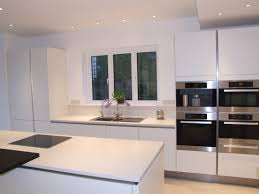 a bank of appliances create a great feature in crisp white on