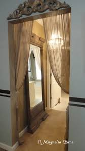 Hallway Door Curtains Tension Rod And Sheer Curtains To Dress Up A Hallway Home Decor