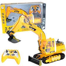 radio remote control rc jcb style excavator bulldozer digger truck