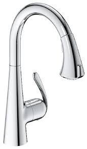 grohe 32298001 ladylux3 cafe locking dual spray kitchen faucet