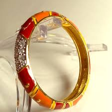 crystal bangle bracelet images Joan rivers jewelry amber yellow burgundy crystal bangle jpg