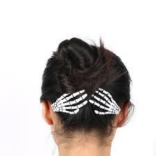 hair pin 1 pair fashion hair accessories skeleton claws skull hair