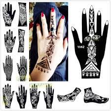 1pc india henna temporary tattoo stencils for hand leg arm feet
