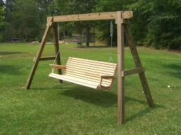 How To Build A Wood Patio by Patio Furniture 53 Magnificent Wood Patio Swing With Frame Image