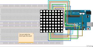 programming 8x8 led matrix arduino project hub