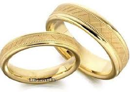 wedding bands sets his and matching 10k yellow gold matching wedding bands set his hers mens womens