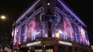 christmas decoration marks u0026 spencer oxford street london 2015