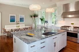 Eat In Kitchen Lighting by Cool Super White Quartzite Fashion Philadelphia Contemporary
