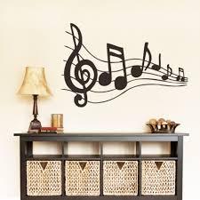 living room black vinyl music symbol living room wall decals