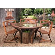 patio ideas diy rustic wooden outdoor furniture of dining set