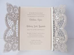 silver wedding invitations lace wedding invitations stunning laser cut wedding invitation