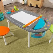 Kids Art Desk And Chair by Chalkboard Kids U0027 Art Table With Stools Kidkraft