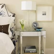 mirrored nightstand design ideas