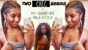 two chic braids natural hair youtube