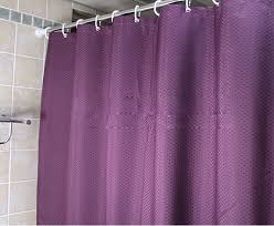 Waterproof Bathroom Window Curtain Purple Colored Shower Curtain For Bathroom Waterproof Feature Buy